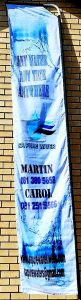 SA Pure Water Flag after Printing