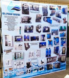 SA Pure Water Banner after Printing