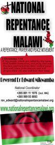 Designed Banner for National Repentance Malawi