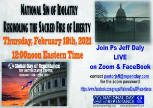 Poster for yet another Zoom call event we held with Ps Jeff for the USA Time of Repentance